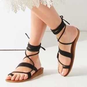 Jeffrey Campbell Suede Vista Gladiator Sandal Sz 8